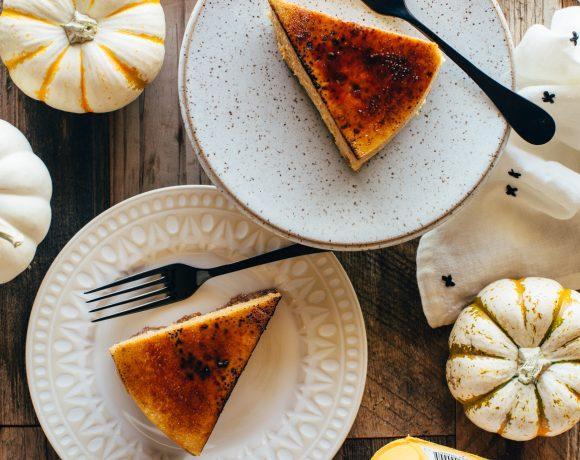 Pumpkin Creme Brulee Cheesecake