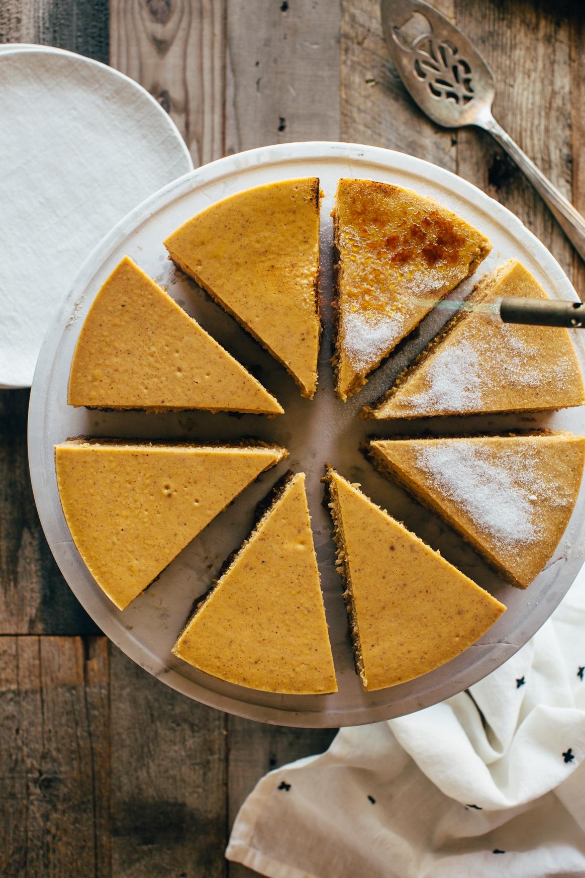 Bruleeing Cheesecake