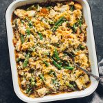 Bacon and Cheddar Green Bean Casserole