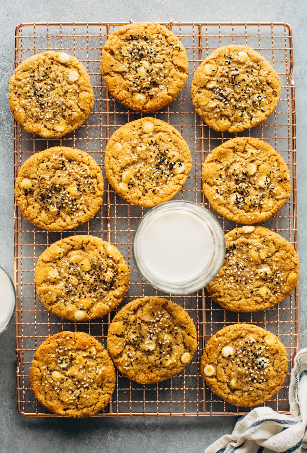 Peanut Butter and White Chocolate Cookies with Miso