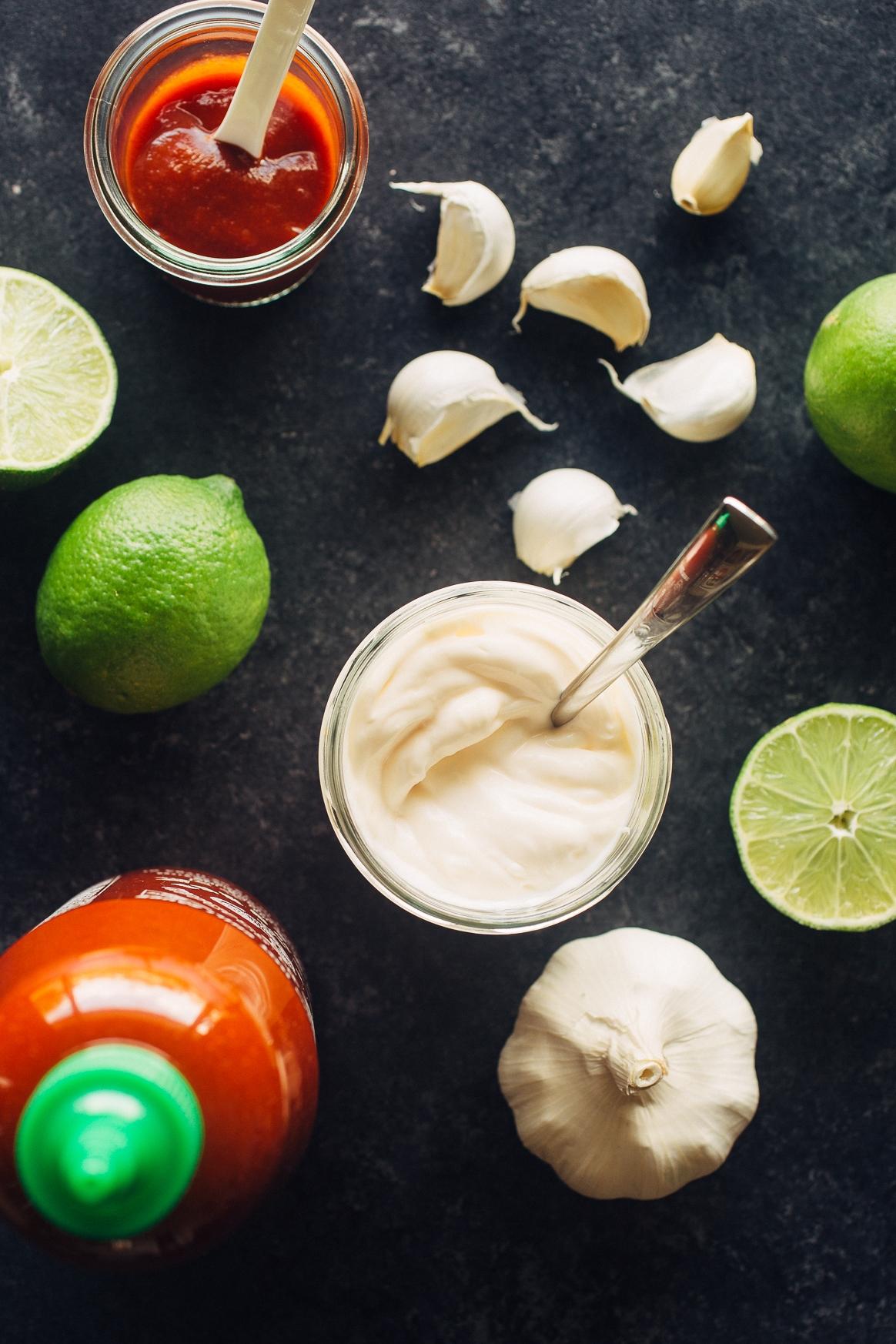 Sriracha Aioli Ingredients