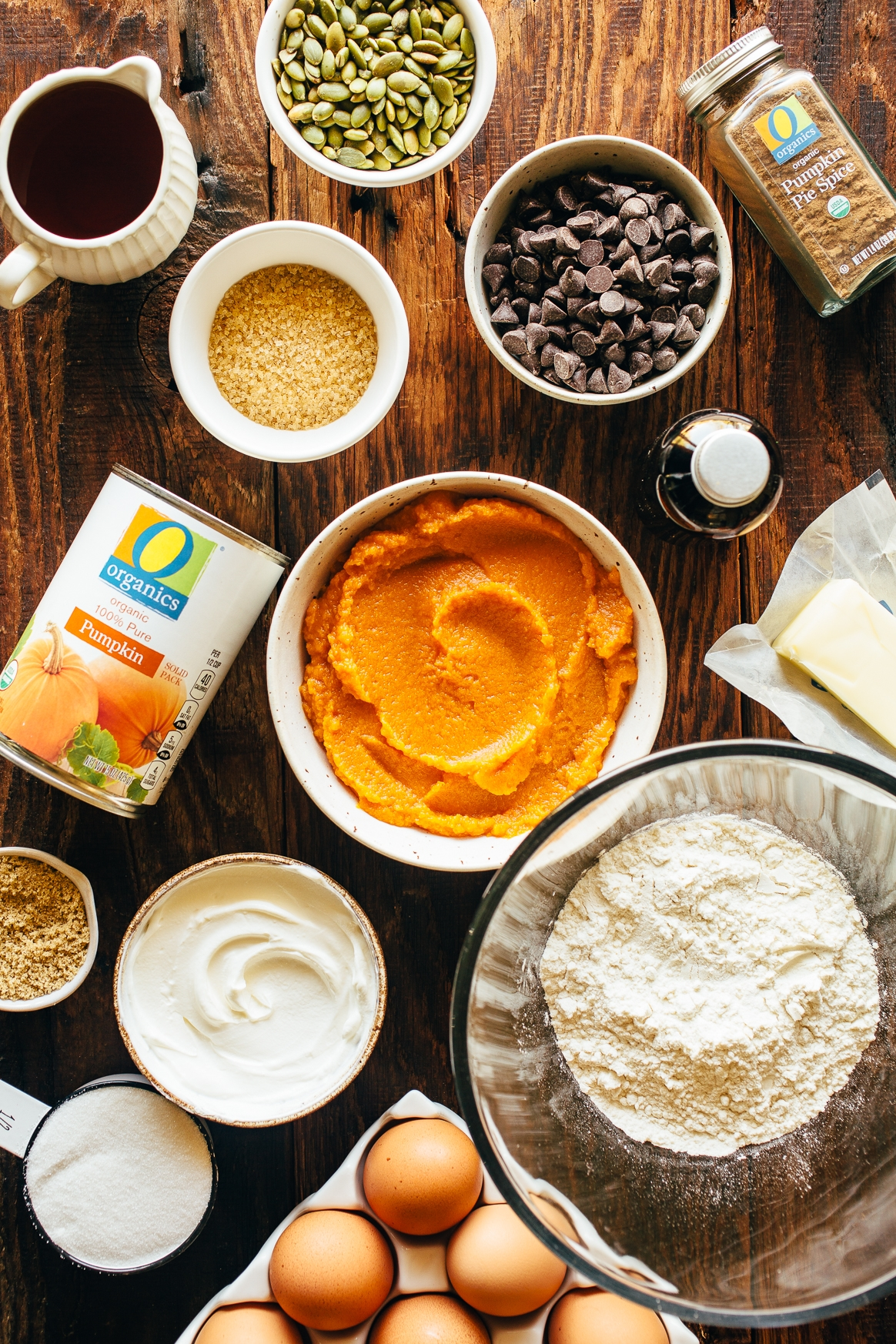 Chocolate Chip Pumpkin Skillet Cake Ingredients