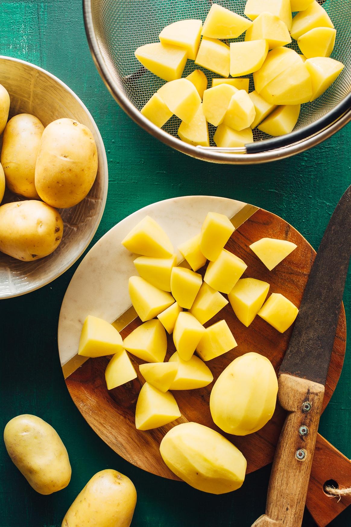 Chopped Yukon Gold Potatoes