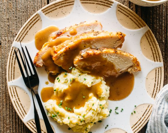 Turkey, Gravy and Mashed Potatoes