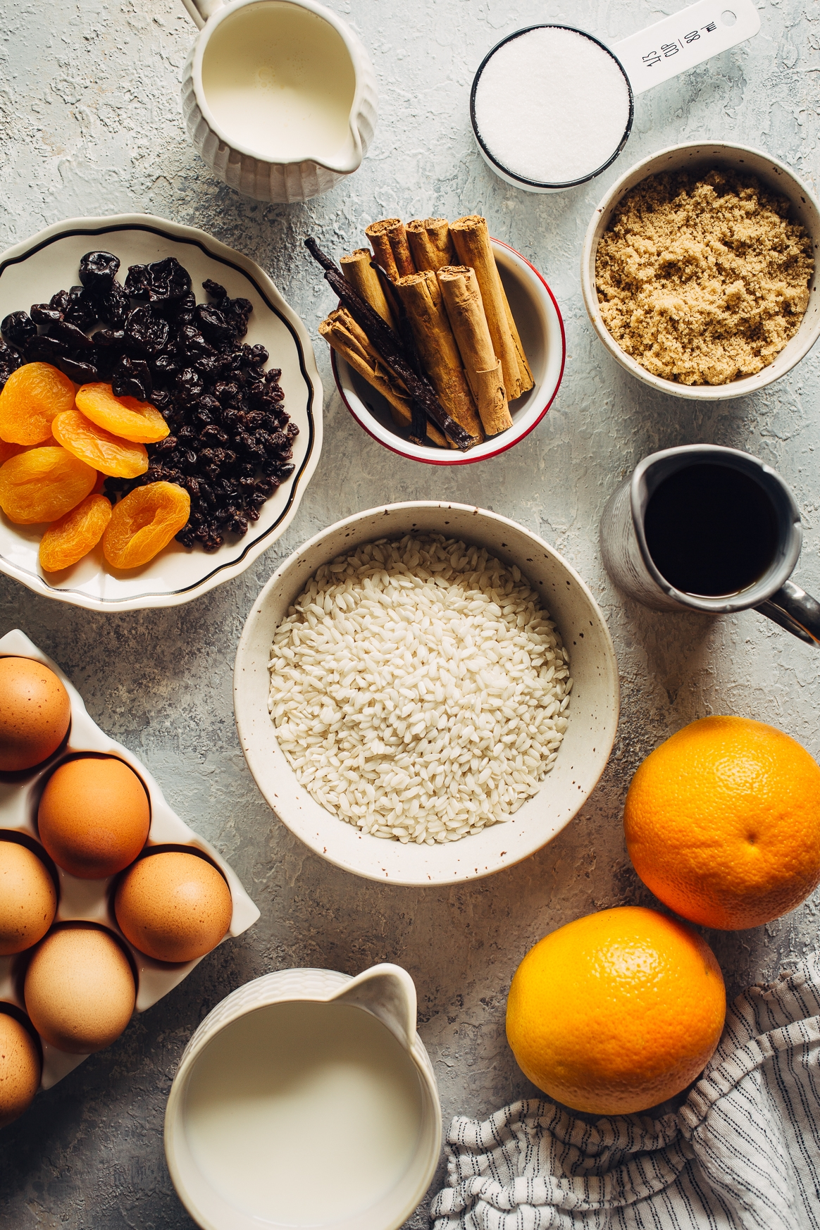 Instant Pot Rice Pudding Ingredients