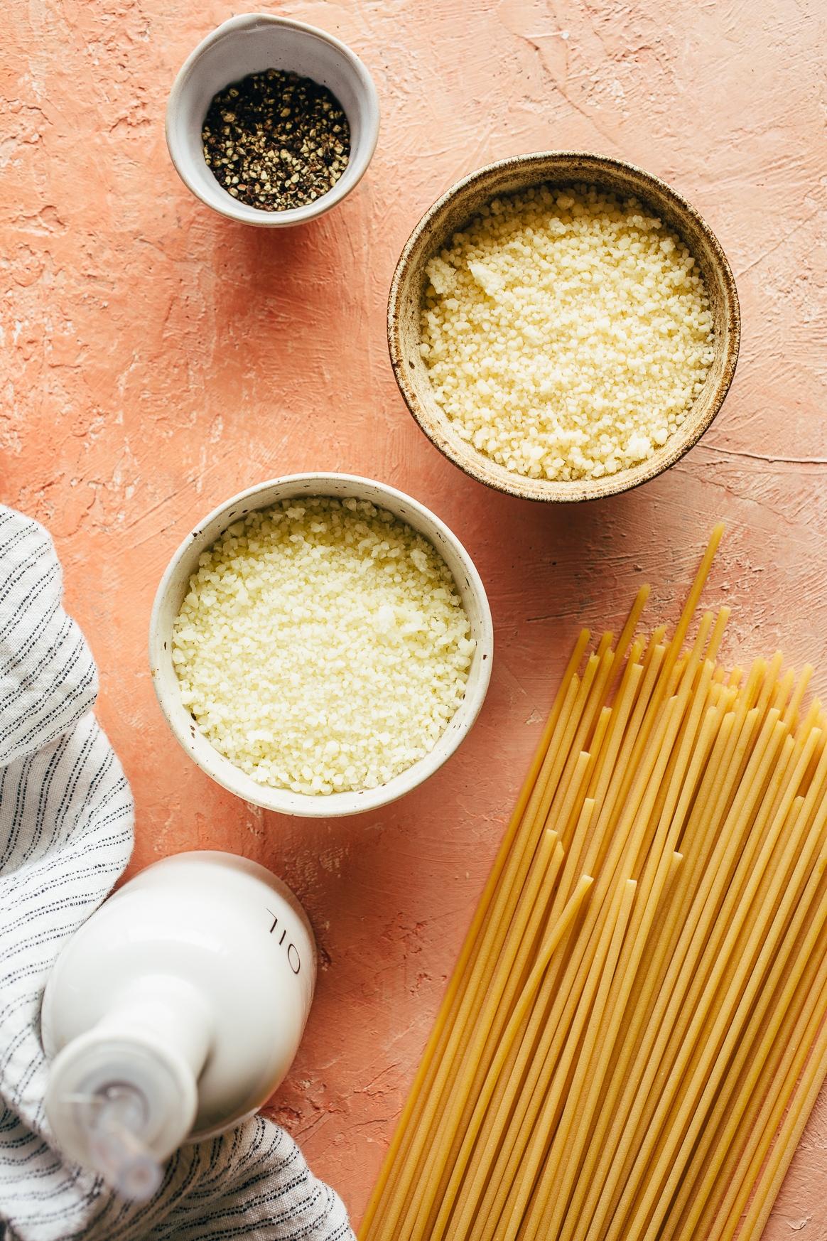 Cacio e Pepe Ingredients