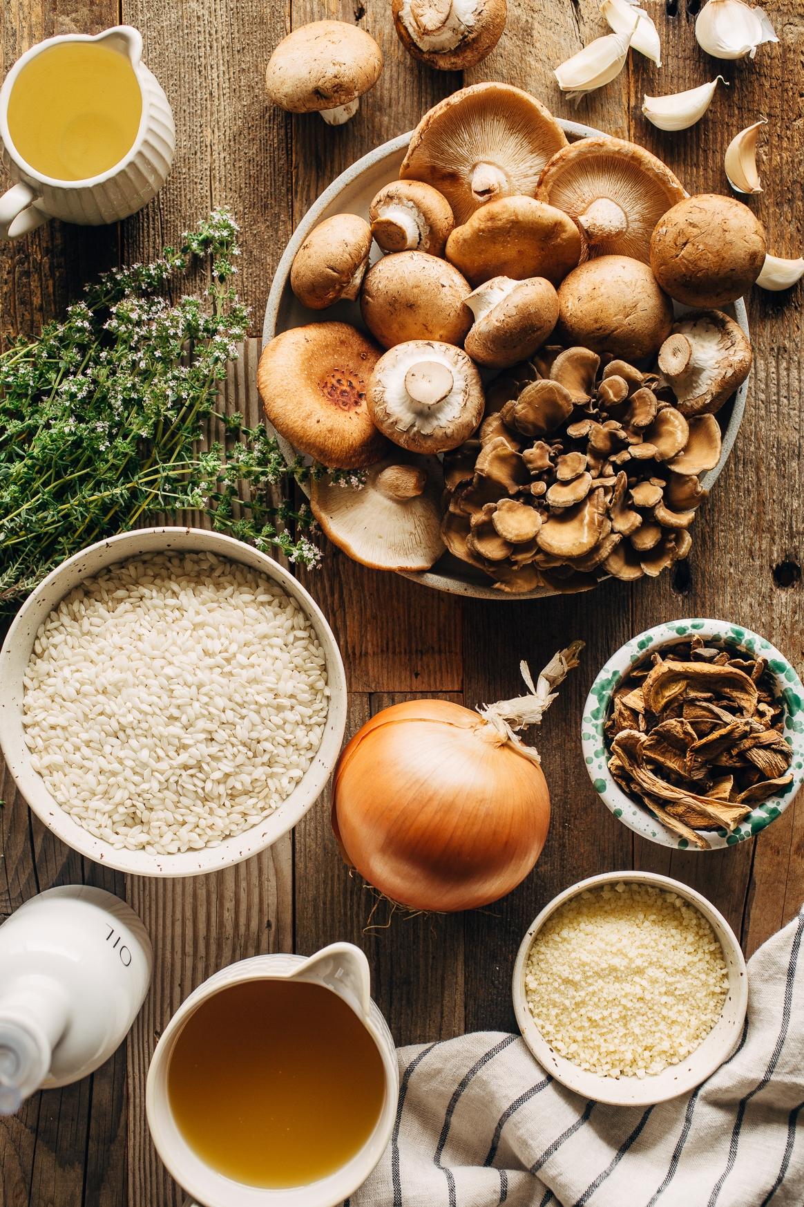 Mushroom Risotto Ingredients