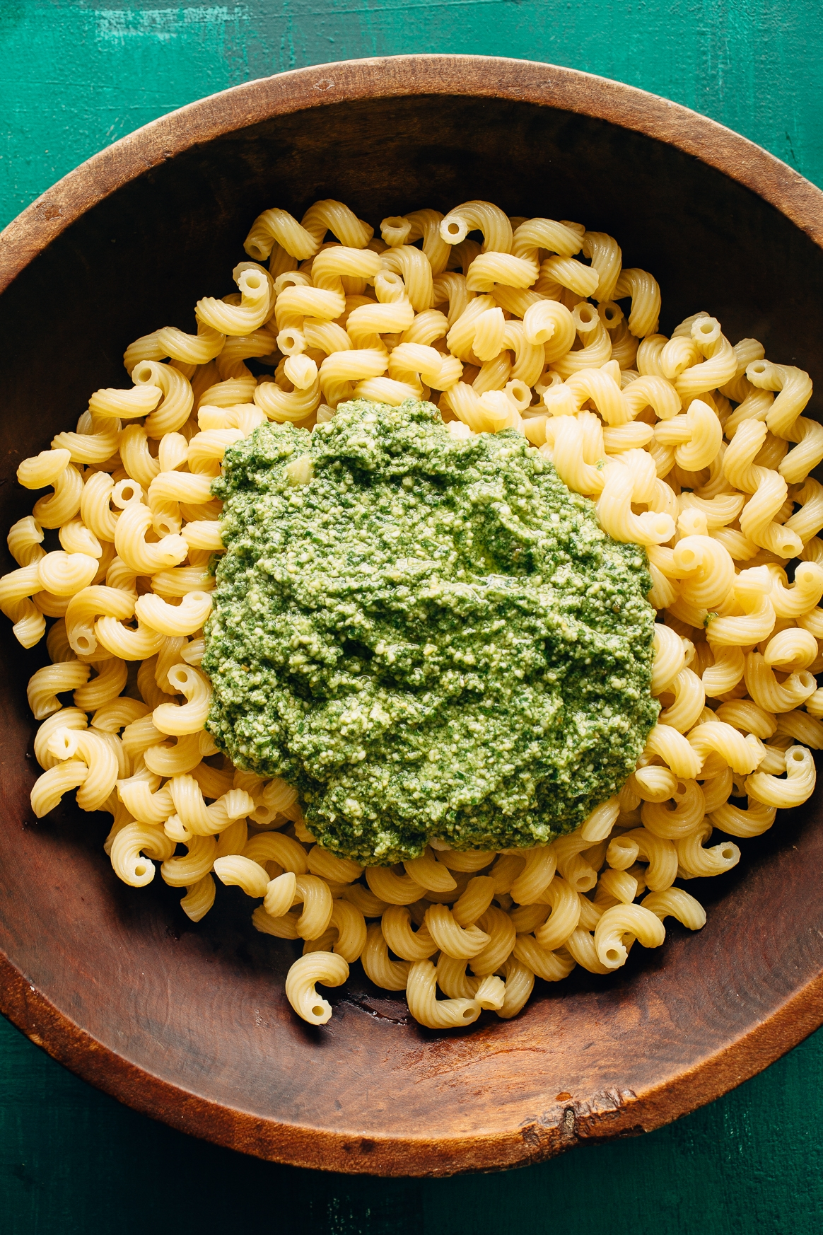 Pasta with Pesto on Top