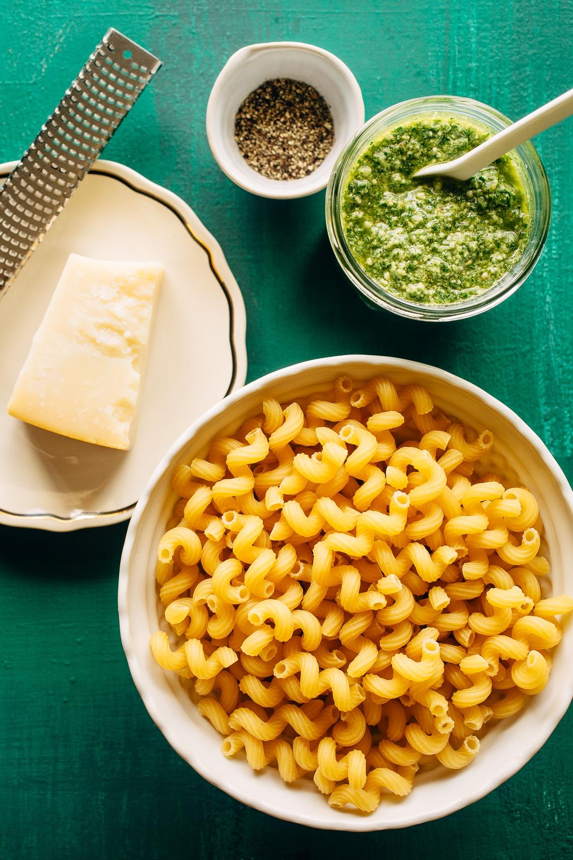 Pesto Pasta Ingredients