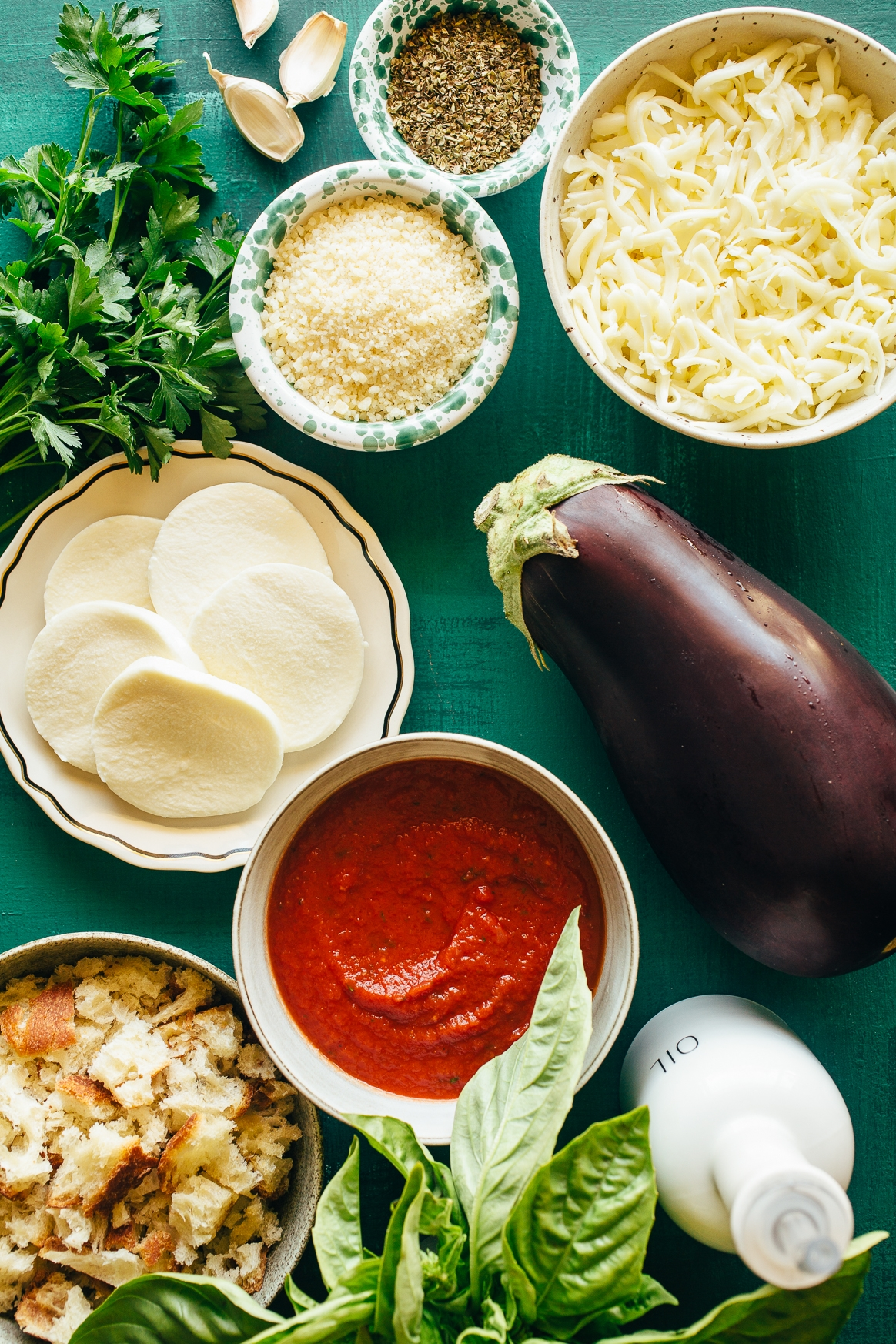 Baked Eggplant Parmesan Ingredients
