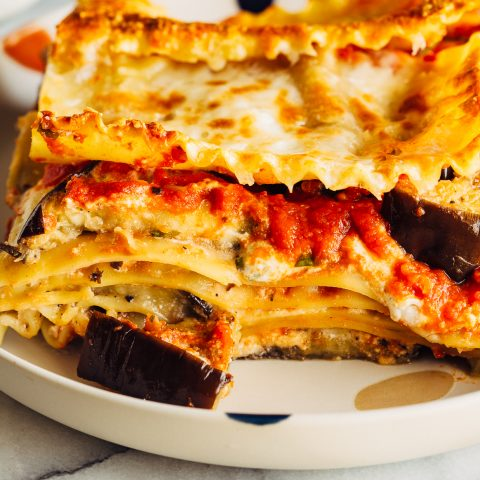 Slice of Eggplant Lasagna