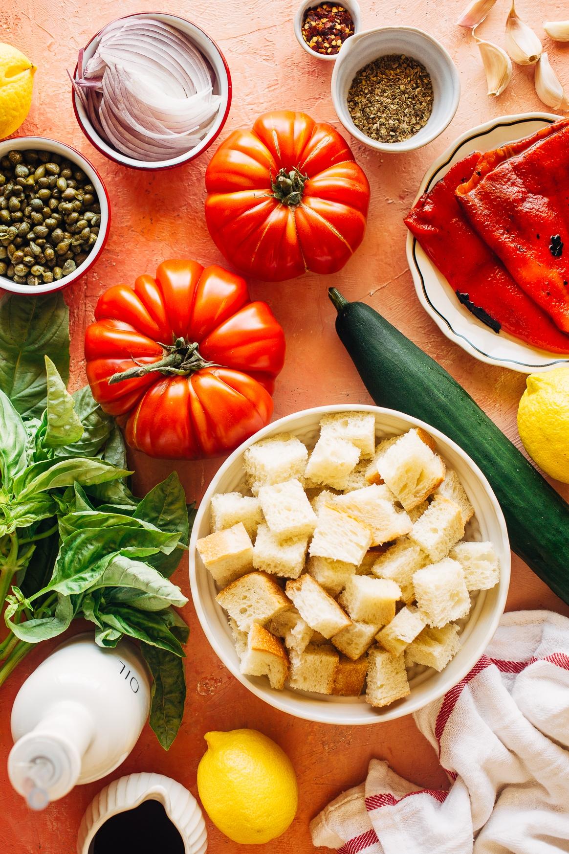 Panzanella Salad Ingredients
