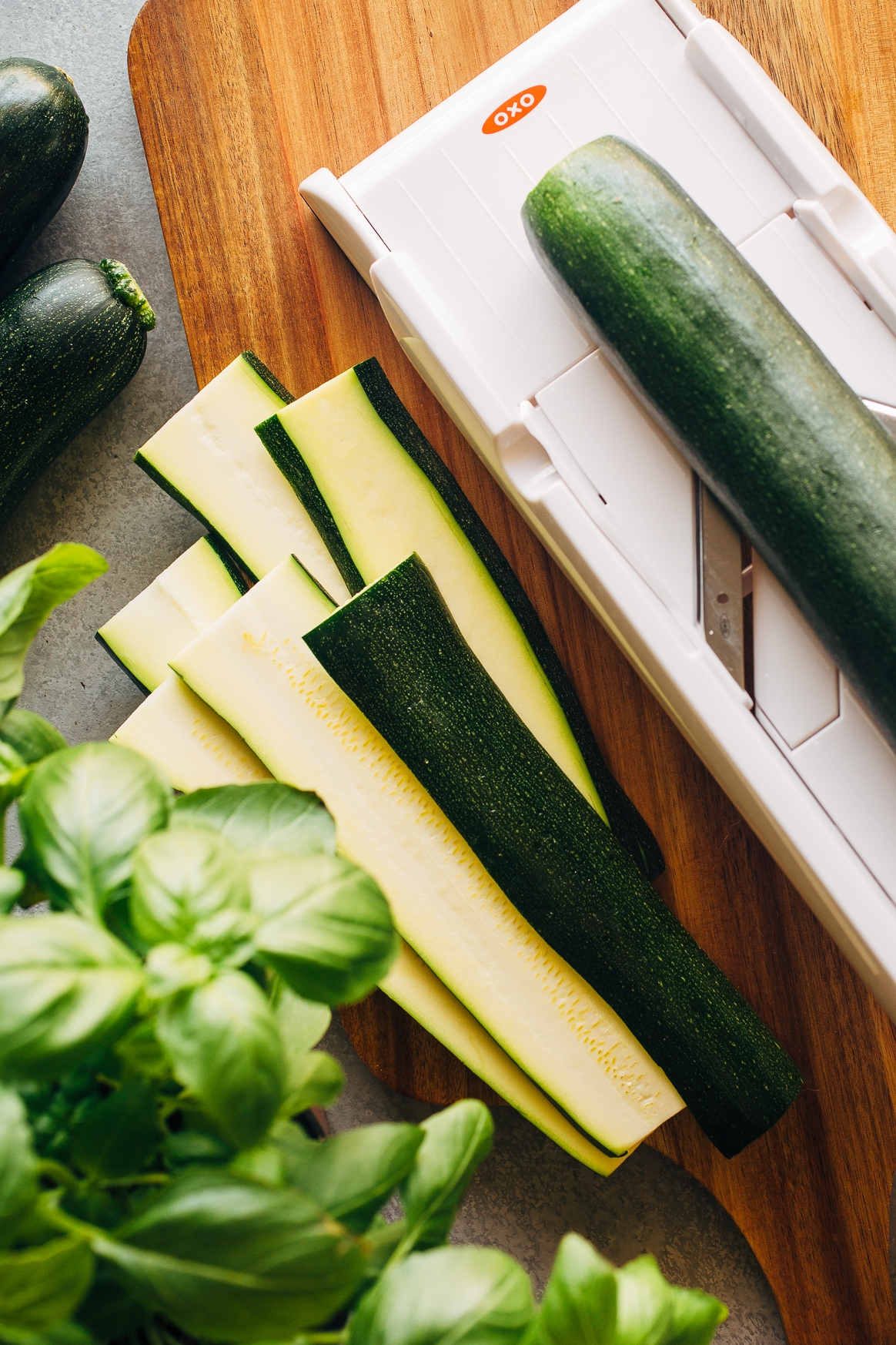 Slicing Zucchini